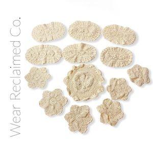 VINTAGE Bundle of 13 Cream/Off White Doilies